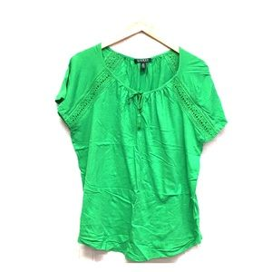 Ralph Lauren Sz 1X short sleeve Blouse J